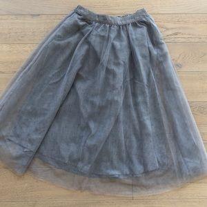 Lauren Conrad Tulle Midi Grey Skirt Size XS